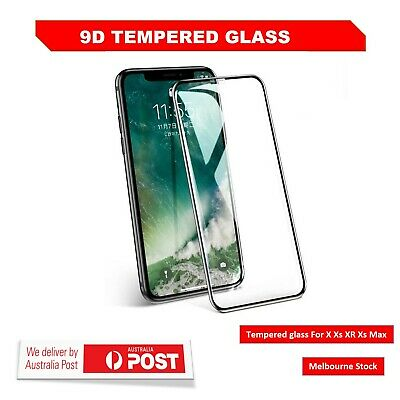 Screen Protector 9D Tempered Glass For Apple iPhone X XS MAX XR Full Coverage