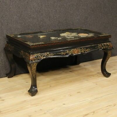 Table Lacquered Chinoiserie Living Room Furniture Low Antique Style Wood 900