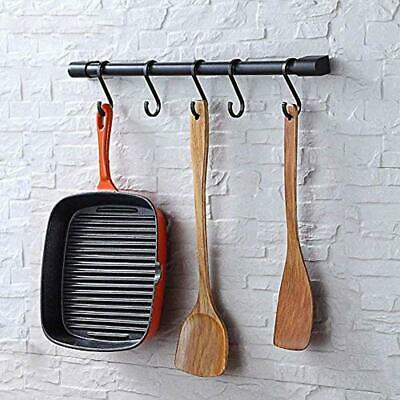 Kitchen Utensil Racks With Removable S Hooks For Hanging Pots And Pans, Rod Wall