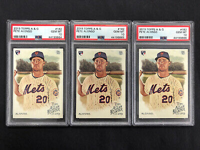 Lot-3 2019 Topps Allen & Ginter Pete Alonso RC #182 PSA 10 Non Auto Sequential #