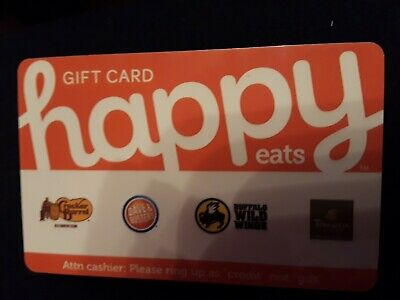 $50 Happy Eats Gift Card With Multiple Restaurants Cracker Barrel, Dave &...