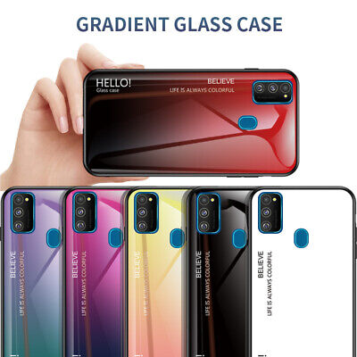 For Samsung Galaxy Note 10 Plus A90 5G M30S Gradient Tempered Glass Case Cover