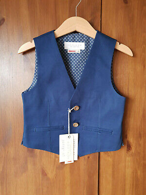 RRP £20 JOHN LEWIS HEIRLOOM WAISTCOAT Dark Blue Navy Boys 3 4 6 7 9 10 11 Years
