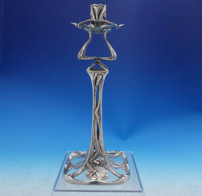 Mauser Sterling Silver Candlestick Art Nouveau #5662 (#4033) Dragonfly