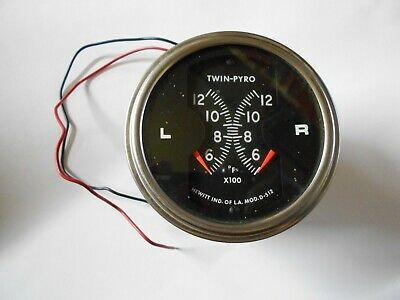 "Hewitt Instruments Twin-Pyro 3"" Gauge Dual Head Gauge"
