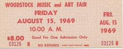 Woodstock - One Day Ticket from 1969