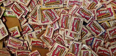 100 Trimmed Box Tops for Education, BTFE none expired, 3/1/2020-2022