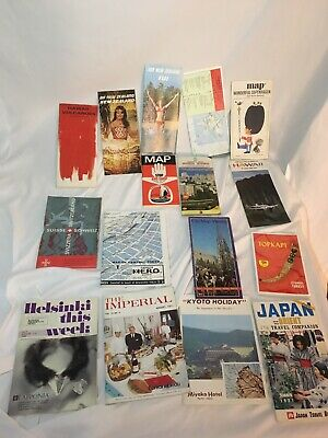 Lot Of Foreign Maps Hawaii New Zealand Japan Sweden Vienna Denmark Finland Etc.