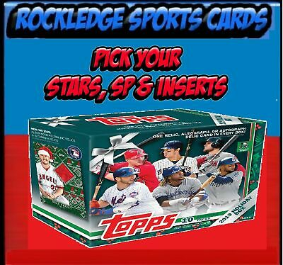 2019 Topps Walmart Holiday Baseball Stars, SPs & Inserts (Pick Your Cards.)