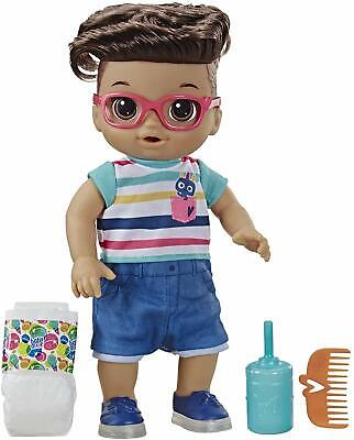 HASBRO Baby Alive Step 'N Giggle Baby Boy Doll Brown Hair New/Sealed