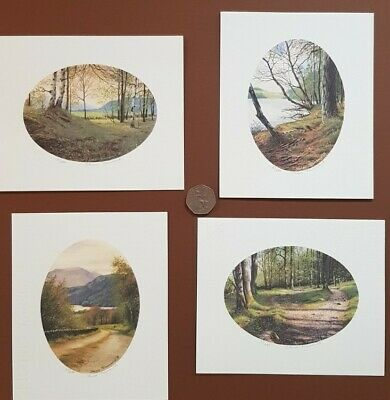 Steven Townsend Rare Miniature Limited Edition Prints Oval Woodland Set Of 4