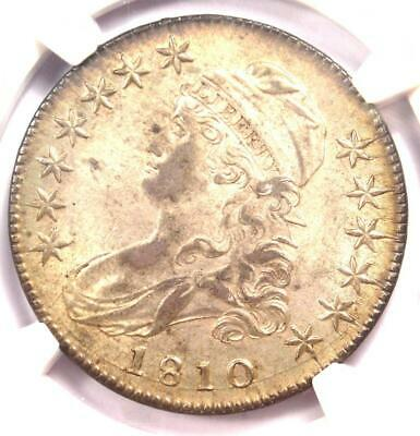1810 Capped Bust Half Dollar 50C O-103 - Certified NGC MS62 (BU) - $4,200 Value!