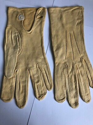 Vintage 1950s Soft Leather Gloves Size 8