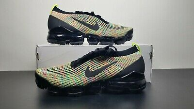 Nike Air Vapormax Flyknit 3 Multi-SZ Mens AJ6900-006 Black Volt MultiColor