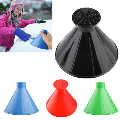 Magical Car Windshield Ice Remover Scraper Tools Cone Shaped Funnel Snow Deicer