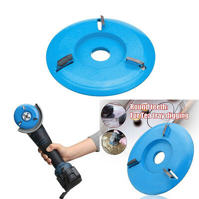 16mm Woodworking Turbo Tea Tray Digging Wood Disc Tool Aperture Angle Grinder