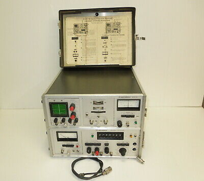MOTOROLA S-1327B SERVICE MONITOR RF Tester Frequency Generator Synthesizer