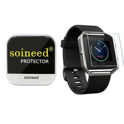 {1-3Pack} SOINEED® Tempered Glass Screen Protector Saver For Fitbit blaze