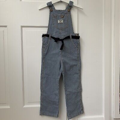 DUNGAREES 4 Years OSH KOSH Girl Stripe Blue EXCELLENT CONDITION