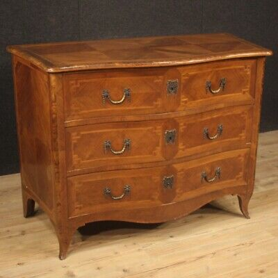 Commode dresser antique style Louis XV furniture chest of drawers in wood 900