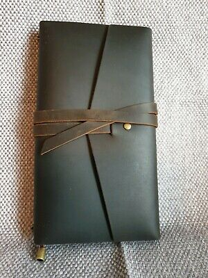 Brown Leather Travellers Notebook Tri Fold Standard Size