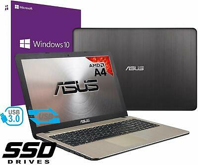 "Notebook Asus Vivobook Portatile 15.6"" AMD A4 2.60Ghz 8Gb Ssd 256GB Win 10 PRO"
