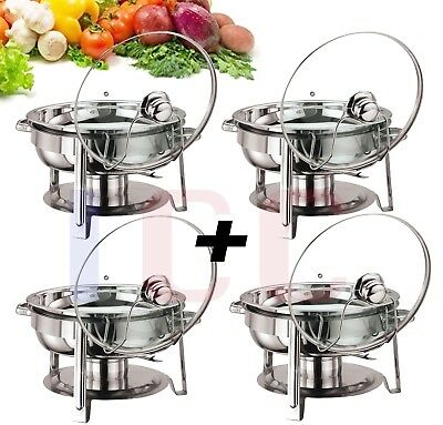 4X  Quality chafing Round Chaffing Dish Lid BUFFET DISH FOOD WARMER warm server