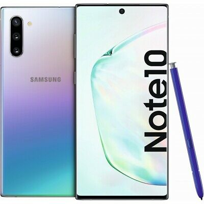 Samsung Galaxy Note 10 N970 256GB Glow/Silver Android Smartphone ohne Vertrag
