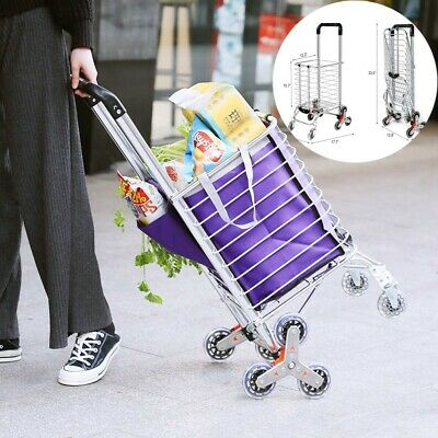 New Folding Shopping Cart Jumbo Basket Grocery Laundry Travel w/Swivel Wheels US