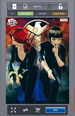 Marvel Collect Topps Digital Original Art Duos D Murray Black Widow Maria Hill