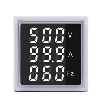 3pcs Geekcreit® 3 in 1 AC 60-500V 100A Square White LED Digital Voltmeter