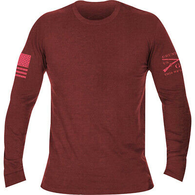 Grunt Style Basic Long Sleeve T-Shirt - Heather Cardinal