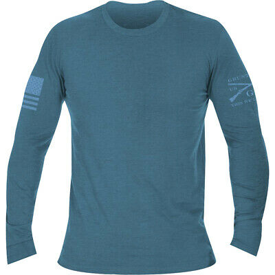 Grunt Style Basic Long Sleeve T-Shirt - Heather Deep Teal