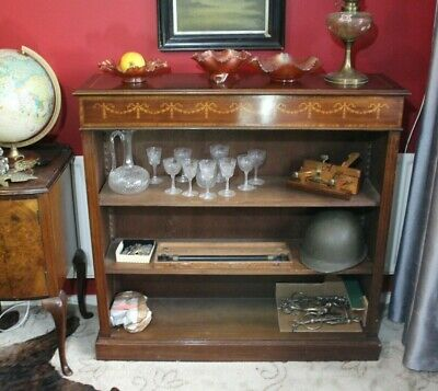 Regency Style Inlaid Mahogany Bookcase Shelves Regency Victorian