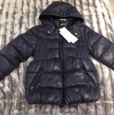 Brand New With Tags Stunning Mayoral Girls Navy Coat/Jacket