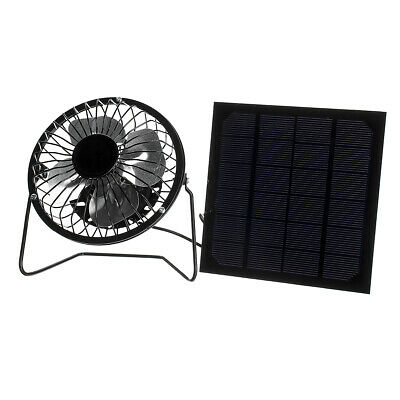 5W Protable Solar Panel + 4inch Cooling Fan Kit with USB Port for Home Outdoor