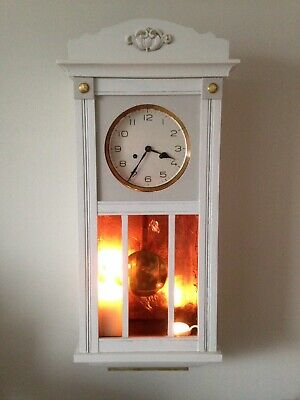 Gilded painted Pendulum wall clock looks great with candles / fairy lights !