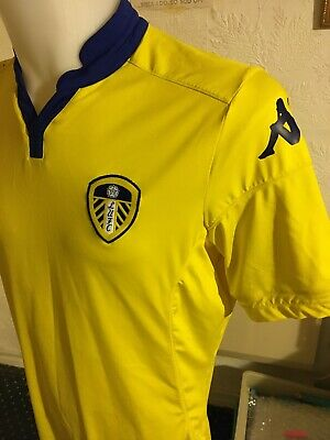 Mens Leeds United 2015-16 Football Away Shirt Kappa Jersey Size UK Large