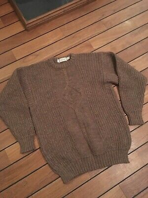 Vintage Paul Stuart New York Chunky Knit Jumper Made In Iteland 42 L Inis Meain