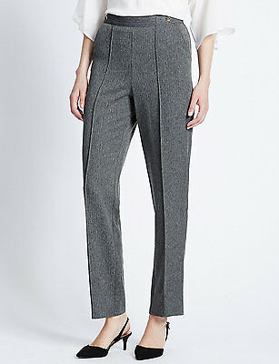 Women's grey textured pull on trousers in size 24 and 26 from Marks and Spencer