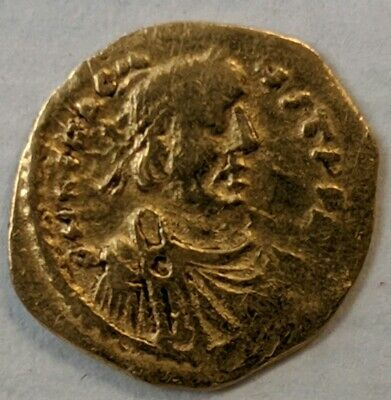 Byzantine Gold Coin Tremissis Heraclitus 610 - 641 AD. FREE SHIPPING.