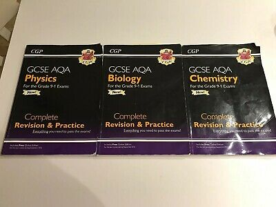 New Grade 9-1 GCSE Chemistry /Biology/ Physics AQA Complete Revision & Practice