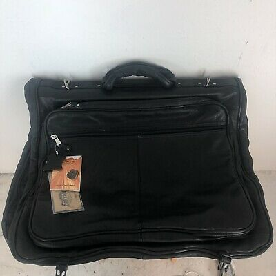 CANYON OUTBACK LEATHER GOODS CO   LEATHER GARMENT BAG , Black, New With Tags
