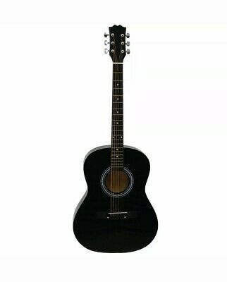 "NEW! Black 39"" Full Size 4/4 6 String Steel Strung Acoustic Guitar"