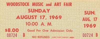 Woodstock- Ticket to Friday, August 17th
