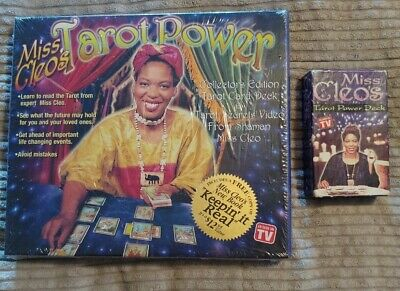 NEW SEALED Miss Cleo's Tarot Power Collectors Edition & Cleo's Tarot Power Deck
