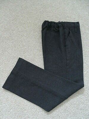 Boy's Charcoal Grey Pull-On School Trousers from John Lewis Age 5 Years