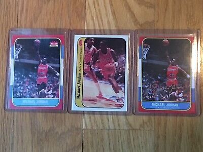 1986-1987 Fleer Michael Jordan Chicago Bulls Lot W/ Auto
