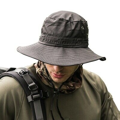 US NEW Hat Boonie Hunting Fishing Outdoor Cap Wide Brim Military Unisex Sun Camo