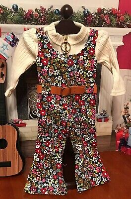 American Girl Doll Julie/'s Floral Jumpsuit Outfit NEW! Retired